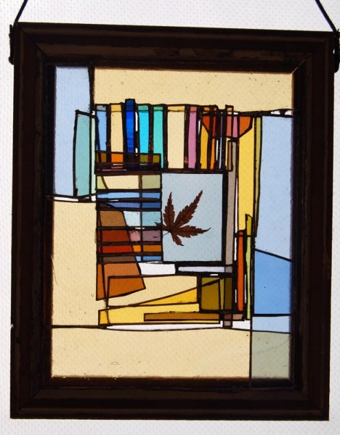 Small maple leaf (recycled wood frame)