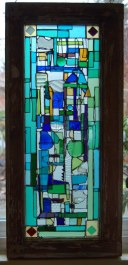 Winburn panel, Seattle (recycled transom window)